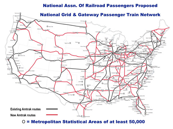 Passenger Services On The Steel Interstate System Steel - Map of us rail network