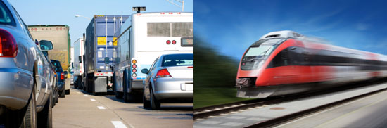 Traffic compared with train image