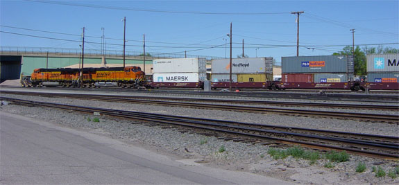 double stack freight train